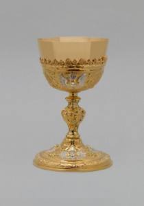 Kalich pozlacený, zdobený anděly, vzor 072