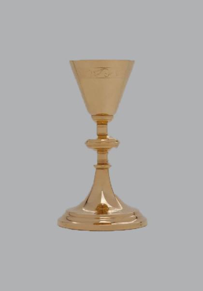 Kalich pozlacený, gravírovaný, vzor 066